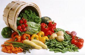 รับประทานผักต่างหลากสี